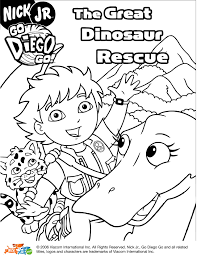 diego coloring pages great dinosaur rescue get coloring pages
