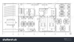 Architectural Symbols Floor Plan by Standard Office Furniture Symbols Set Used Stock Vector 525801505