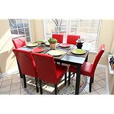 Leather Dining Room Furniture 7 Pc Leather 6 Person Table And Chairs Dining