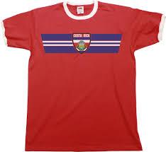 Flag Costa Rica Mens Costa Rica Football T Shirt World Cup 2018 Russia Retro Strip