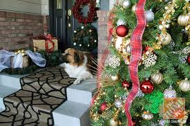 Outdoor Decorations For Christmas Trees by Christmas Decorating Ideas For The Front Door Inside Out Holidays
