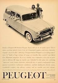 peugeot find a dealer this is an original 1960 black and white print ad for peugeot