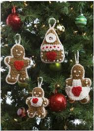 gingerbread ornaments gingerbread crochet ornaments allfreecrochet