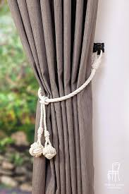 Curtain Rope Tie Backs Curtain Rope Ties White Cotton Rope Monkey Knot Tassel