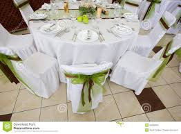 wedding table set with decoration for fine dinning or another