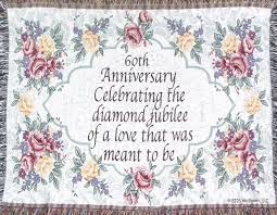60th anniversary gift 60th wedding anniversary sofa throw 60th anniversary