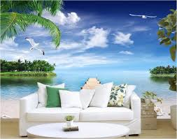 wallpapers for home decoration custom photo 3d wallpaper ocean pier beach seashells painting wall