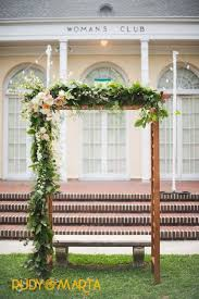 Trellis Rental Wedding A Varnished Wood Arbor For The Wedding Ceremony Is Asymmetrically