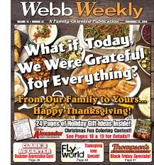 thanksgiving contest ideas for work webb weekly november 23 2016 by webb weekly issuu