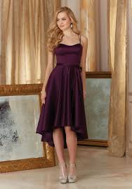 high low bridesmaid dresses high low satin bridesmaid dress style 31086 morilee