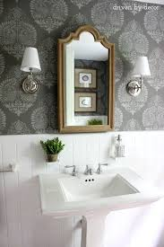 wallpaper designs for bathroom our stenciled bathroom budget makeover reveal driven by decor
