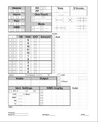icu report sheet template your brain sheet pg 2 allnurses