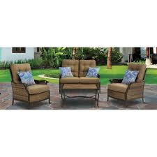 4 Piece Wicker Patio Furniture - sofa patio conversation sets outdoor lounge furniture the