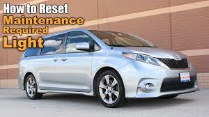 toyota an how to reset the maintenance light on a toyota sienna reset oil