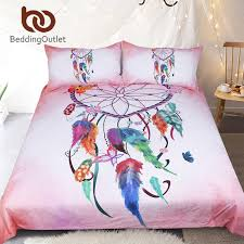 bedding outlet stores beddingoutlet heart dreamcatcher bedding set pink and sky blue