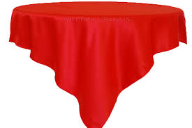 tablecloth for 54x54 table 54 red satin table overlays toppers