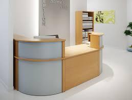 Reception Desks Ashford Reception Corner Metal Desk In Walnut Radius Office