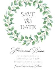 save the date invitation greenery save the date cards paperwhites wedding invitations