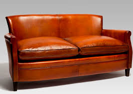 traditional sofa traditional sofa leather 2 seater red parisien 1935