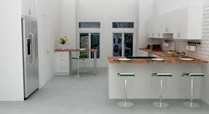 White Floor L Interior Contemporary Scandinavian Kitchen Decor With Brown