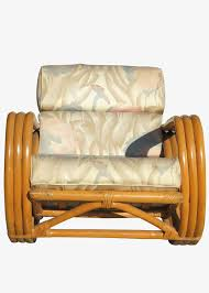 Comfortable Rocking Chairs Rare Restored Pretzel Arm Rattan Rocking Chair With Ottoman For