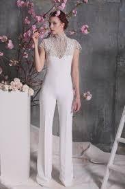 wedding dress jumpsuit 40 trending bridal jumpsuits pant suits