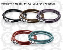 bracelet leather pandora images Pandora new smooth leather bracelets charms addict png