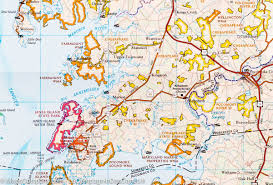 Map Of Maryland And Virginia by Trail Map Of Delmarva Peninsula Delaware Maryland Virginia