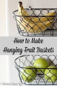 how to make fruit baskets wall hanging fruit basket 3599