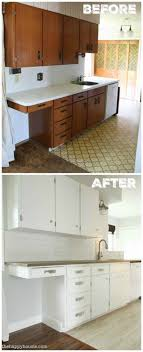 benjamin moore simply white kitchen cabinets super thrifty budget white kitchen makeover reveal the happy housie