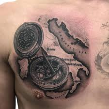 Map Tattoos Western Realism Black And Grey Archives Chronic Ink