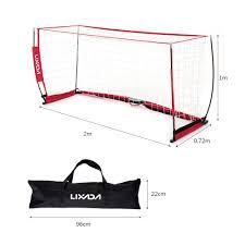 lixada soccer goal portable soccer net sturdy frame fiberglass