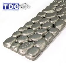 patio drainage problem 4 8 u2033 x 19 6 u2033 deco cast iron grate u2013 river rock u2013 trenchdraingrates com