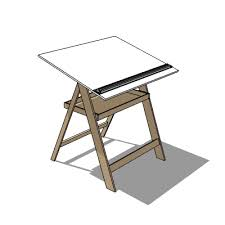 Drafting Drawing Table Drawing Table 3d Model Formfonts 3d Models Textures