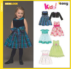 new look 6448 toddlers dress and jacket
