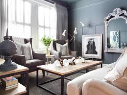 Blue And Brown Living Room by Neutral Masculine Apartment Living Room In Classic Decor Using
