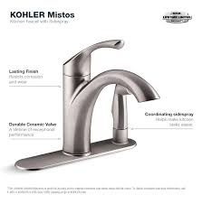 kitchen faucets home depot kohler mistos standard single handle pull out sprayer kitchen
