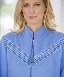 robe de chambre courtelle robe de chambre courtelle zippée bleu femme damart