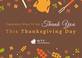expressive ways to say thank you this thanksgiving day