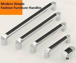 black and chrome kitchen cupboard handles 64mm 96mm 128mm 160mm modern fashion black silver kitchen cabinet wardrobe door handles bright chrome dresser drawer knobs pulls