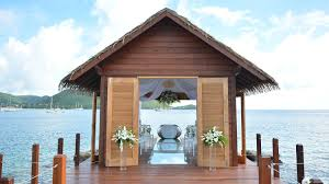 House Over Water The First Overwater Wedding Chapel In The Caribbean Is The Answer
