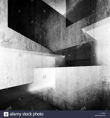 Interior Concrete Walls by Abstract White Concrete Interior Background Intersected Walls And