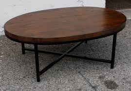 creative of rustic oval coffee table with oval wood coffee tables