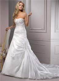 wedding dress with a line strapless corset back ruched organza wedding dress with