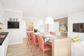 Painted Dining Chairs by Coral Color Dining Chairs Interior Design Ideas