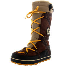womens fur boots uk womens sorel glacy explorer waterproof winter fur lined