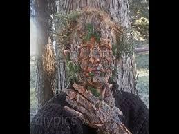 tree camouflage makeup with fauxtex camuflagem de arvore