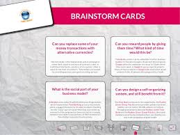One Hour Business Cards 30 Business Model Examples 120 Brainstorm Cards 1