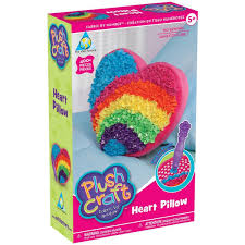 plushcraft heart pillow kit walmart com