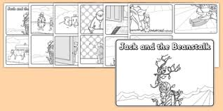 jack and the beanstalk story sequencing 4 per a4 with speech